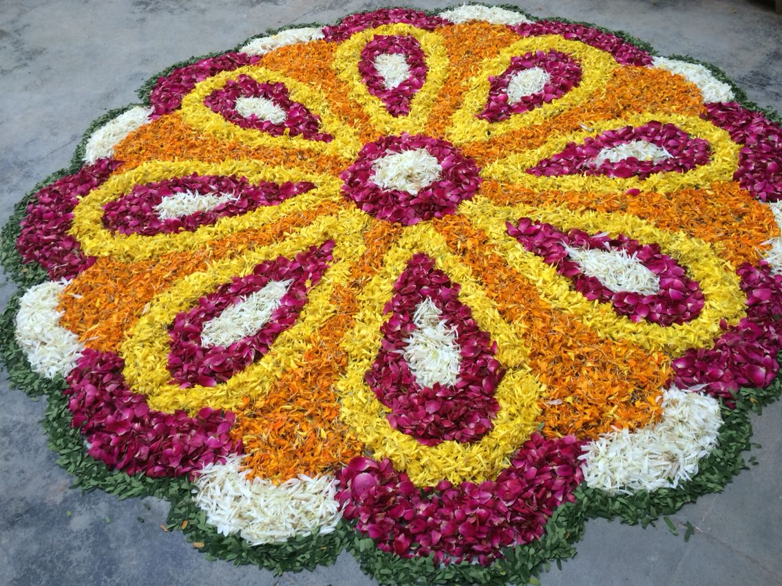 Rangoli of Flowers Diwali Rangoli Rangoli designs