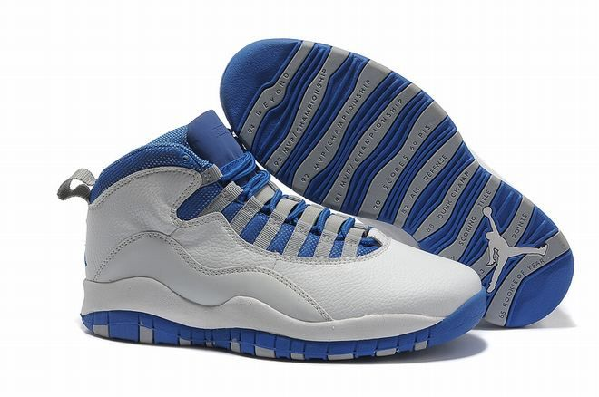 2013 air jordan 10 retro white old royal blue stealth for men