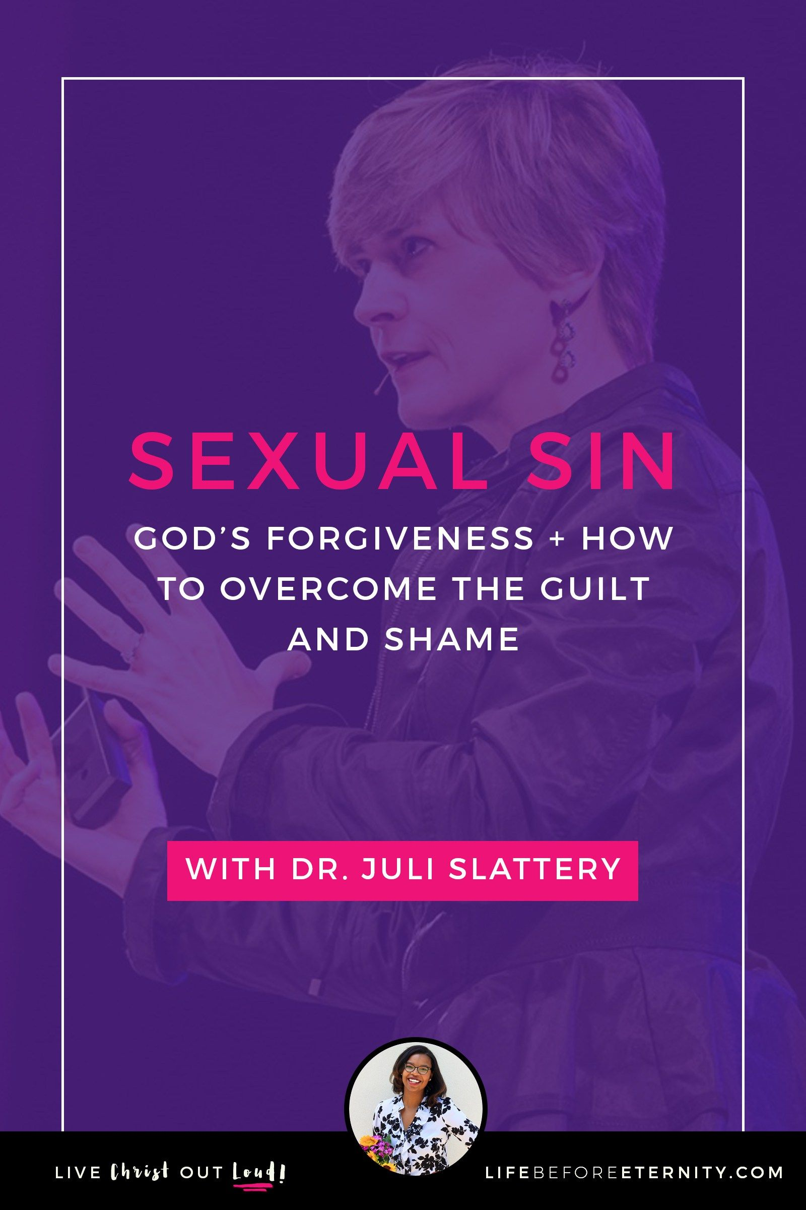 Are you struggling with sexual sin? In this video, widely known clinical  psychologist Dr. Juli Slattery shares about God's forgiveness and how you  can ...
