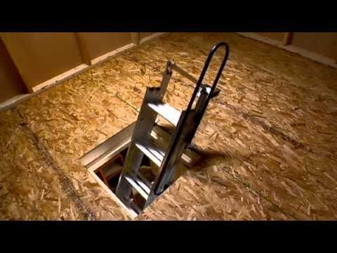 Werner Compact Attic Ladder Fits In Tight Spaces Attic Ladder Loft Stairs Attic
