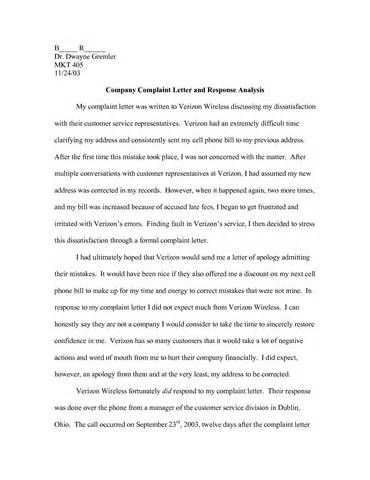 Reply Complaint Letter Sample Customer Essay Writing Persuasive Essays Service Example Question