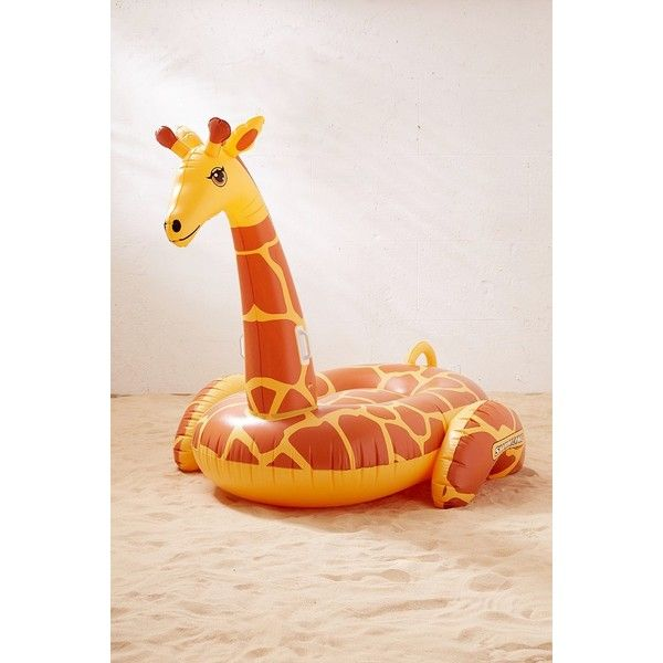 Giant Giraffe Pool Float ($48) ❤ Liked On Polyvore Featuring Home, Home  Decor