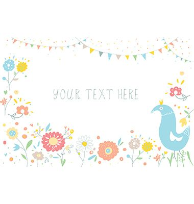 Greeting background with flowers for invitation spring party vector greeting background with flowers for invitation spring party vector by tasia12 on vectorstock stopboris Choice Image