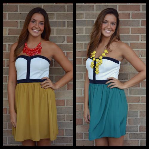 Weekend Colorblock Dress, 2 Colors
