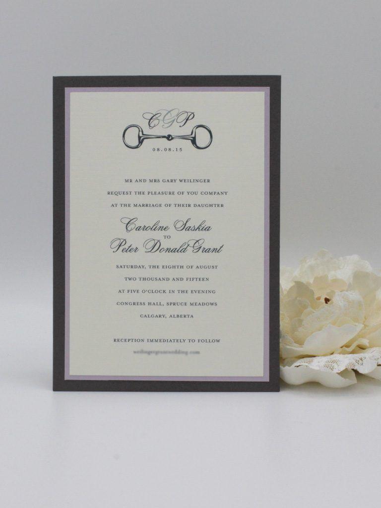 Traditional Wedding Invitations - Paper Panache Invitations & Design ...