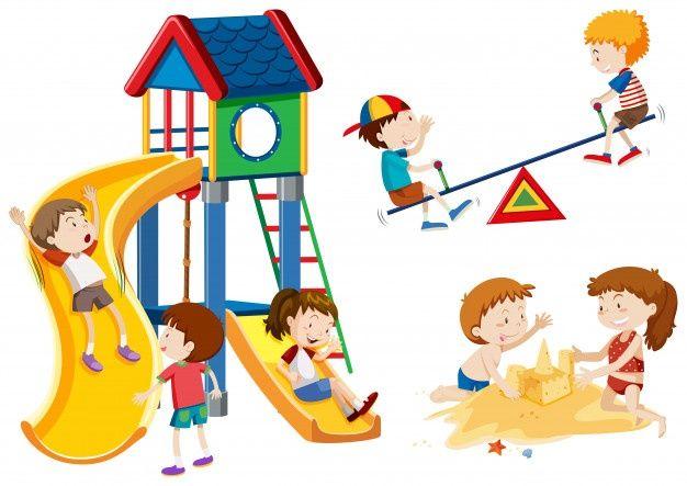 Niños Jugando En El Patio Niños Jugando Niños En El Colegio Dibujo De Niños Jugando