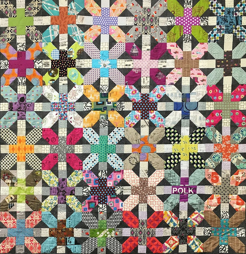 X and Plus Quilt Pattern Designed by Zen Chic Etsy