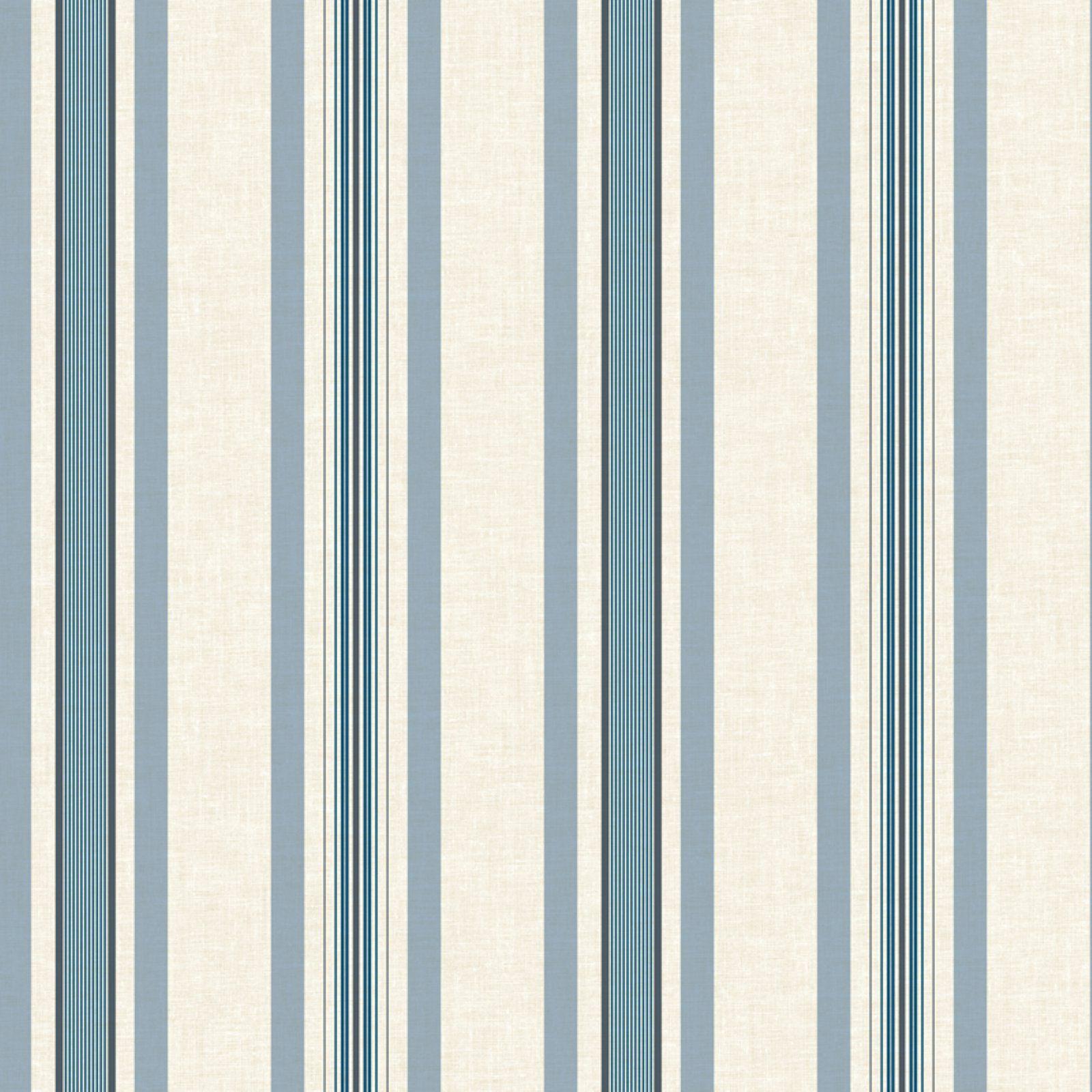 Manhattan Comfort Biscayne Multi Pinstripe Wallpaper White
