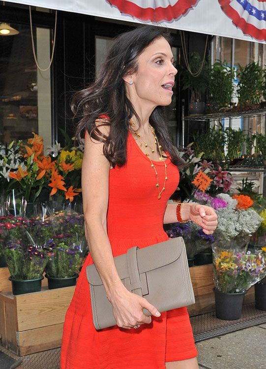 91a9e0b2e27 Bethenny Frankel in red out in Tribeca