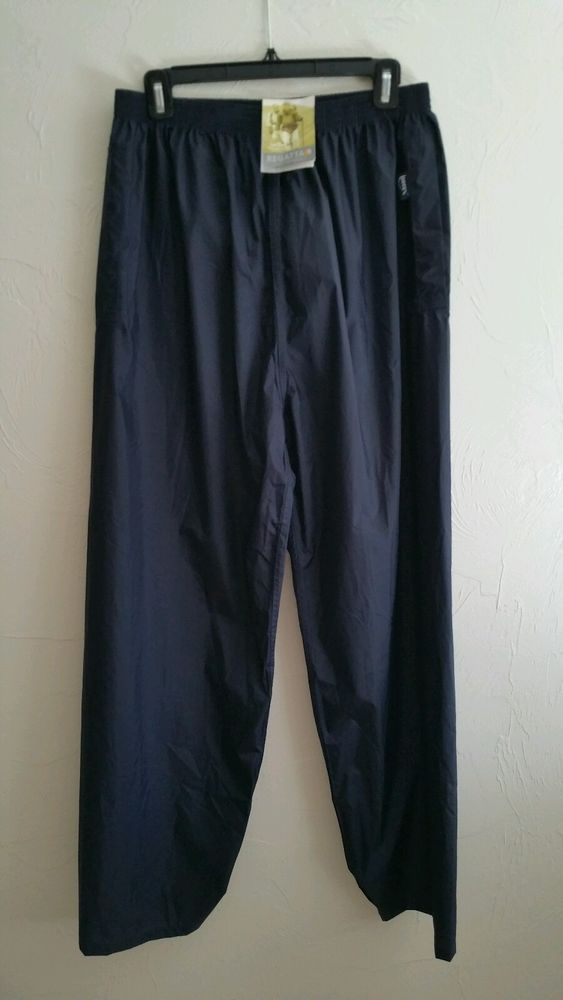 NWT Regatta  Stormbreak Wind Rain Pants Over Trousers Xert, sz L Dark Navy #Regatta #RainWear