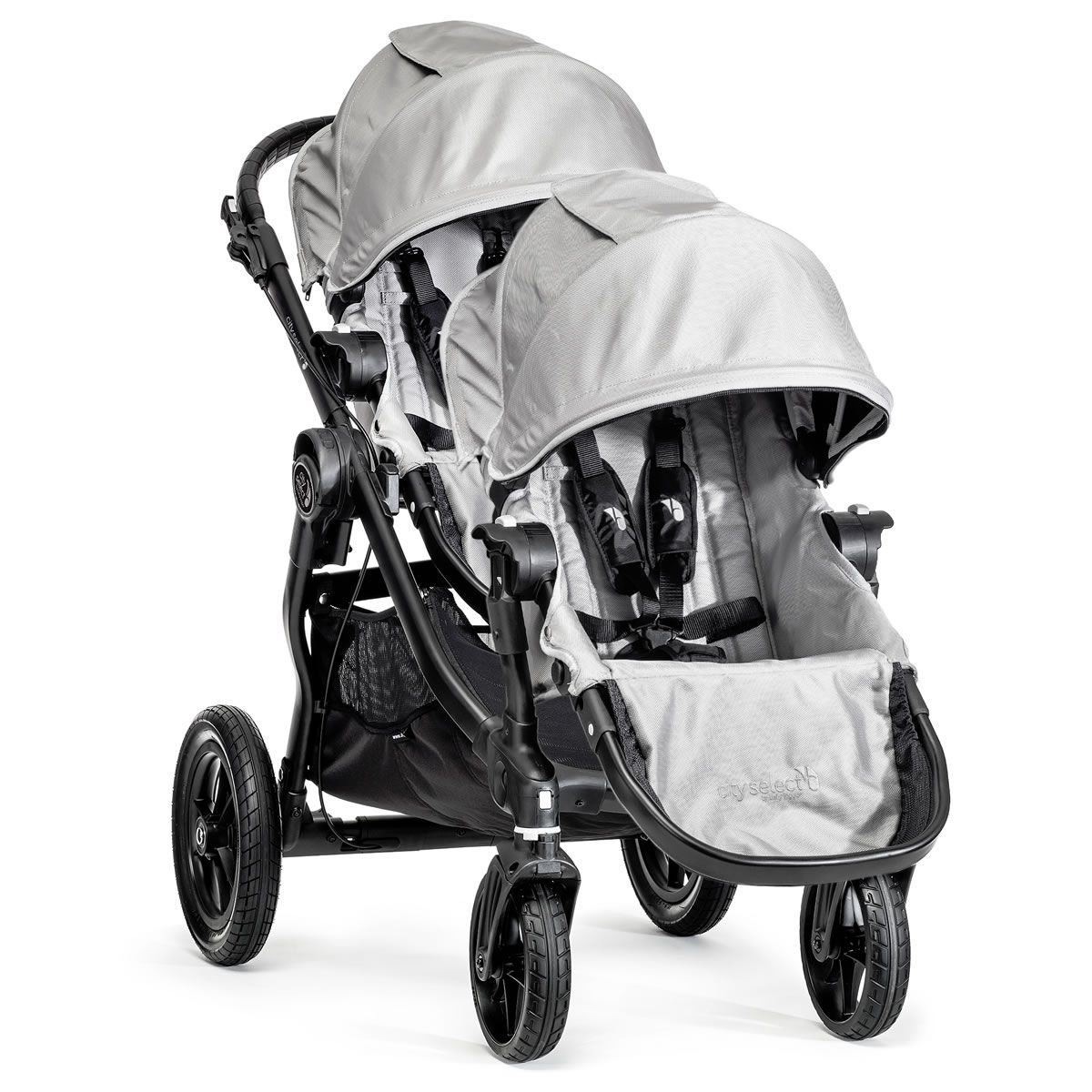 Baby Jogger City Select Double Stroller Silver Baby