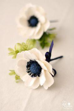 Anemone Boutonniere On Pinterest Anemone Bouquet Thistle Anemone Boutonniere Anemone Navy Flowers