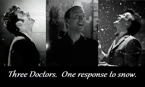 The Doctor and snow :)