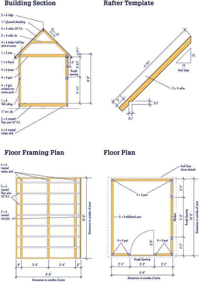 Gable Shed Blueprints 8 10 Plans For A Diy Garden Shed Wood