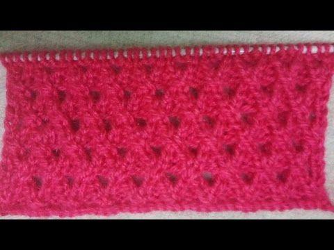 Easy Single Color Knitting Pattern No36hindi Youtube Diagrame