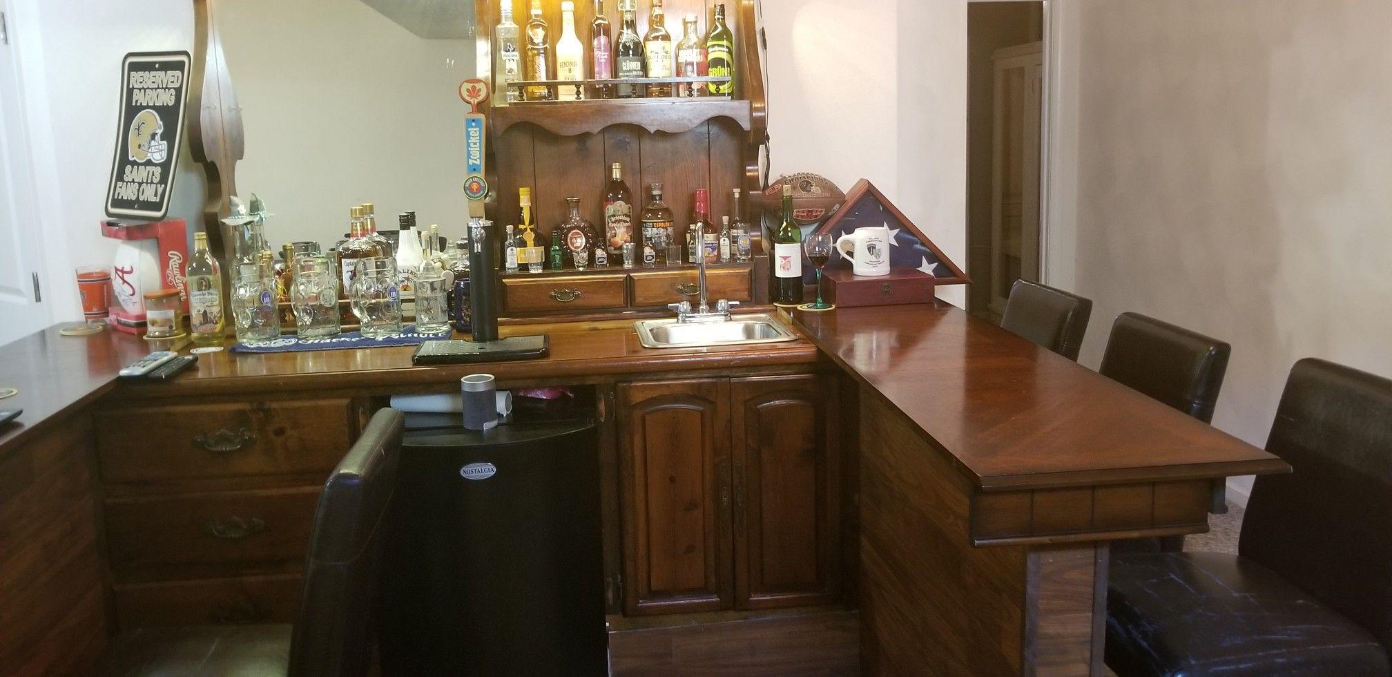 Custom Wet Bar Found An Old Dresser With Top Hutch