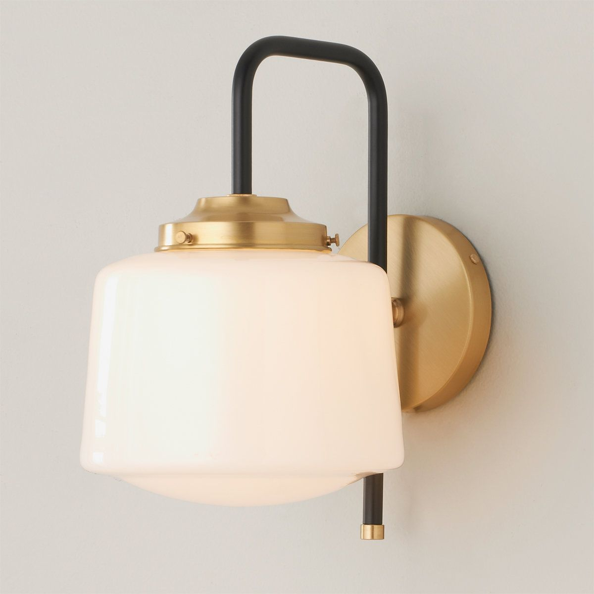 Opal Schoolhouse Sconce In 2021 Sconce Lighting Living Room Sconces School House Lighting