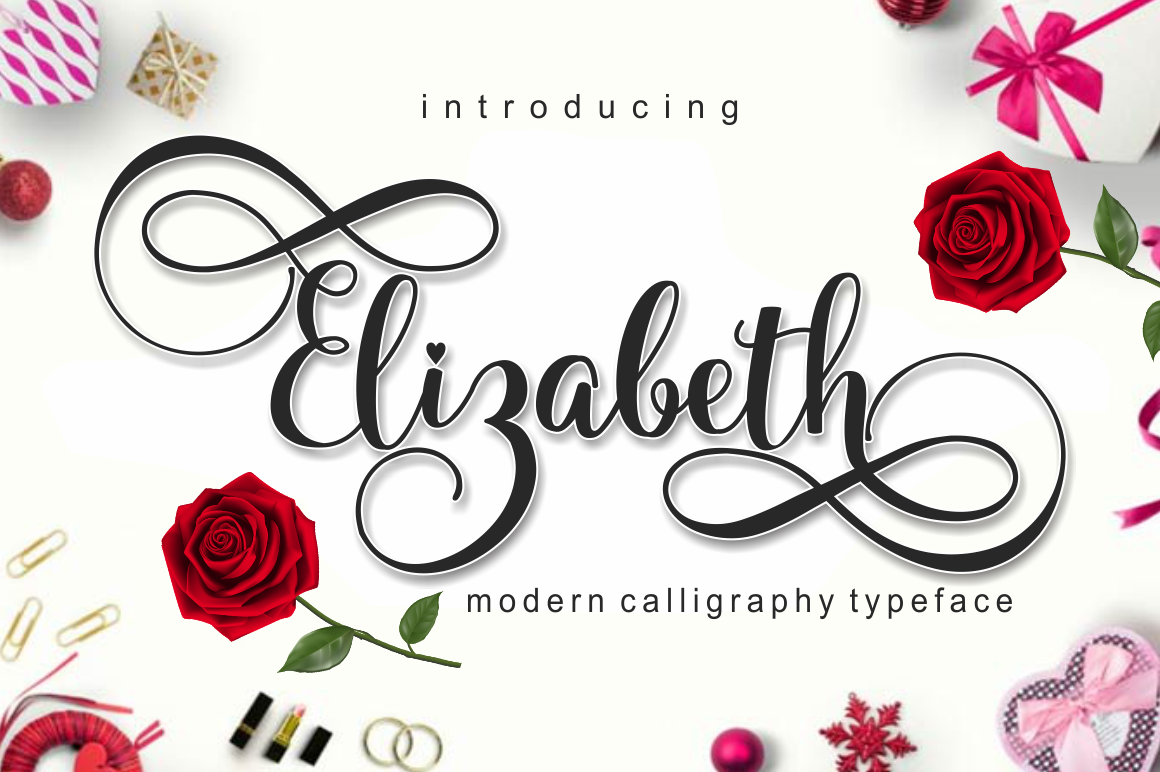 Elizabeth Free script fonts, Creative, Free font
