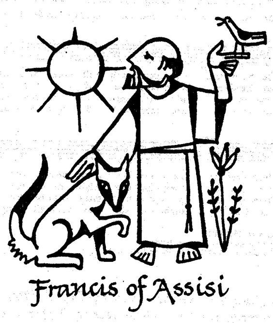 Resultado De Imagem Para Saint Francis Clipart St Francis Francis Of Assisi Coloring Pages