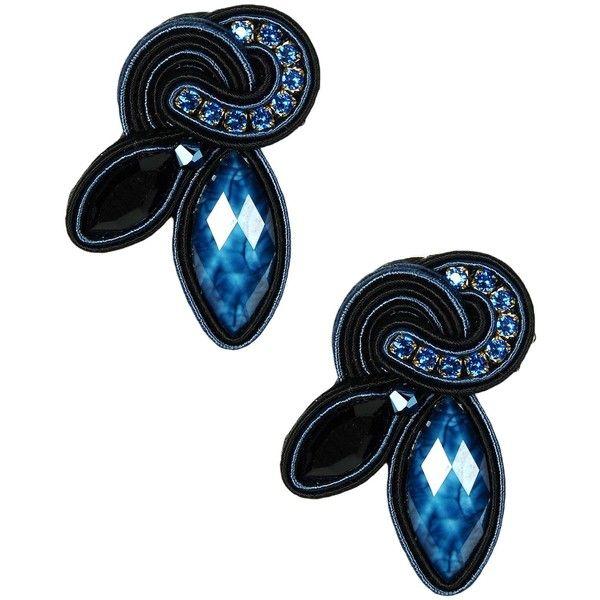 Dori Csengeri Earrings ($278) ❤ liked on Polyvore featuring jewelry, earrings, blue, dori csengeri, blue earrings and blue jewelry