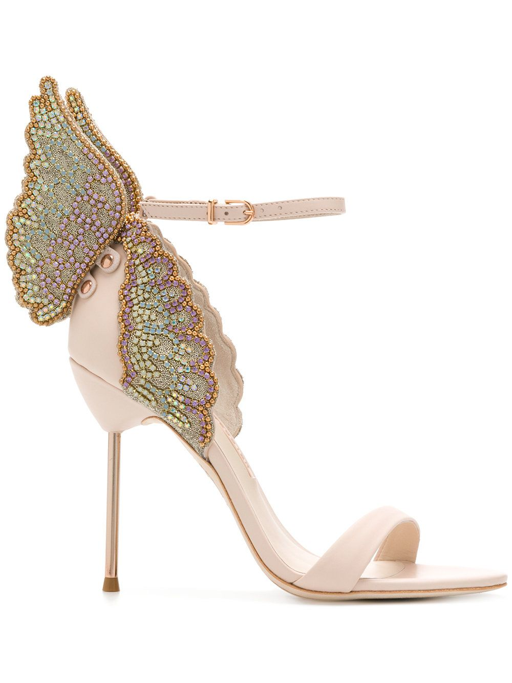 Evangeline butterfly sandals - Nude & Neutrals Sophia Webster Outlet Prices Discounts Very Cheap For Sale jAsWeKt89