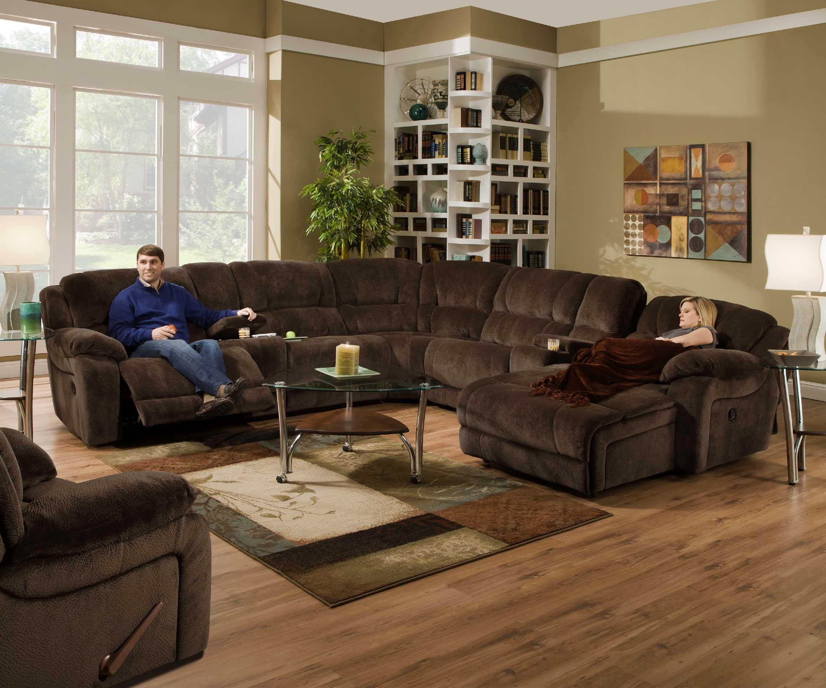 Simmons Upholstery Champ 4 Piece Reclining Sectional Loveseat with