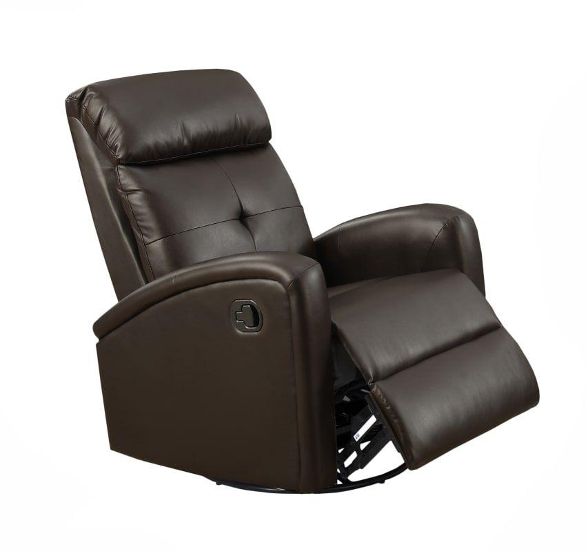 Best Monarch Specialties I 8088 Leather Recliner Swivel 400 x 300
