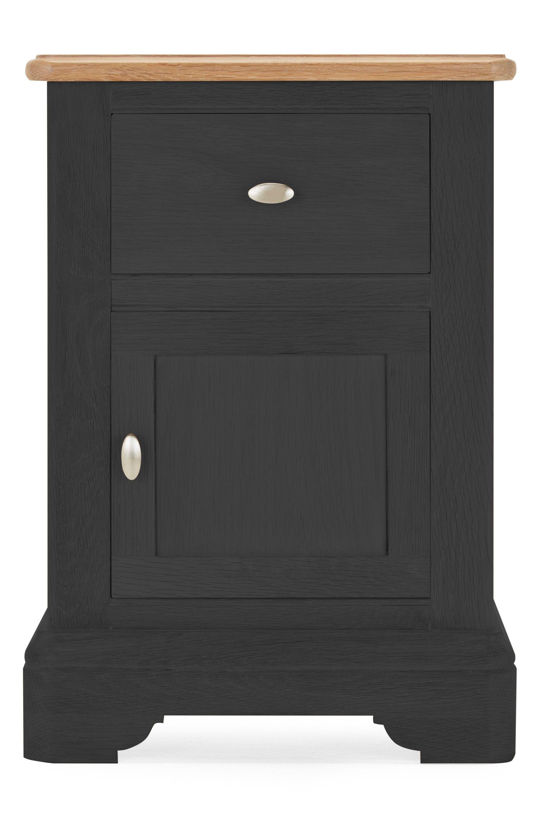 Best Next Hampton Storage 1 Drawer Bedside Table Grey 640 x 480