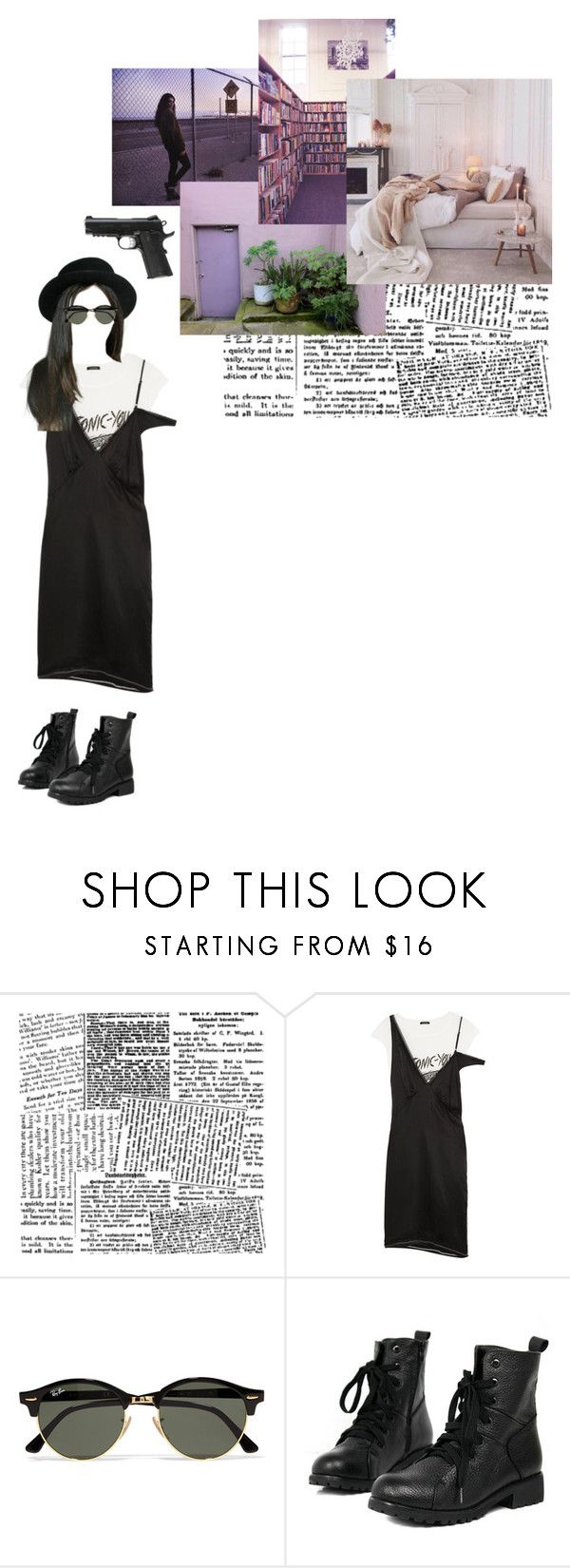 """""""hipsta killer"""" by asmin ❤ liked on Polyvore featuring R13, Caliber and Ray-Ban"""