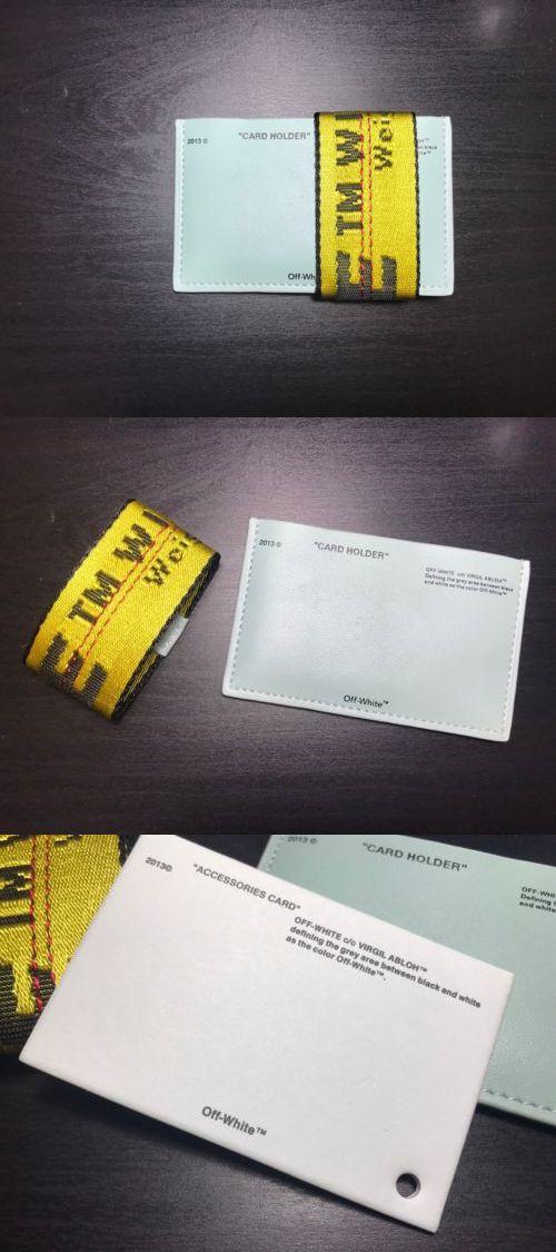 Wallets 169283: Off White Mint Green Card Holder Wallet Virgil ...