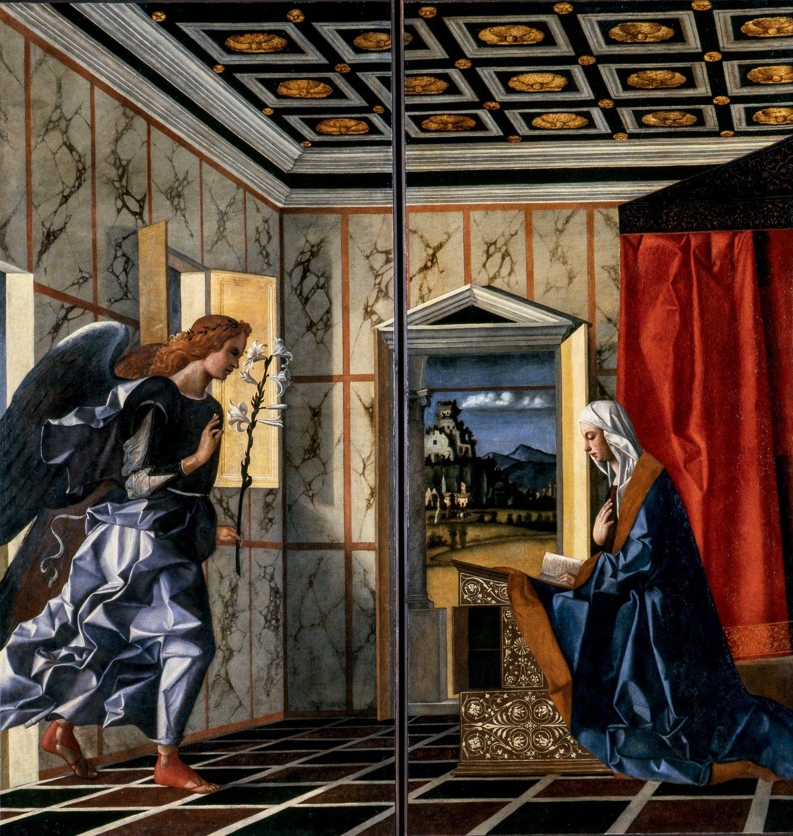 """Resultado de imagem para ANUNCIAÇÃO"""" (1489), de Bellini"""