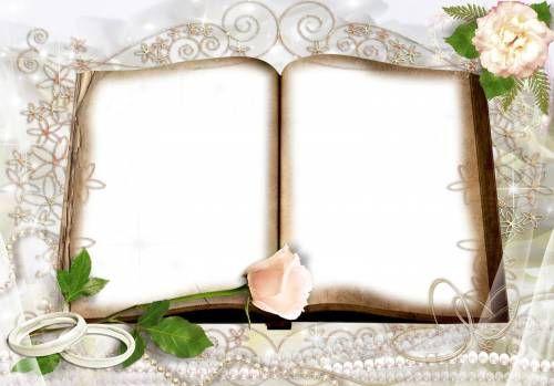 Свадебные Открытая книга. Для двух фото новобрачных рамки ...