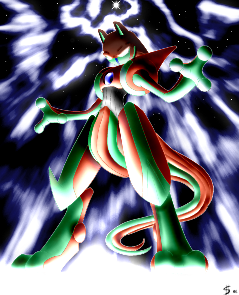 Pokemon mega deoxys images pokemon images - The Deoxys Leader Went Straight To Find The Strongest Pokemon On Earth Finally Mewtwo Won