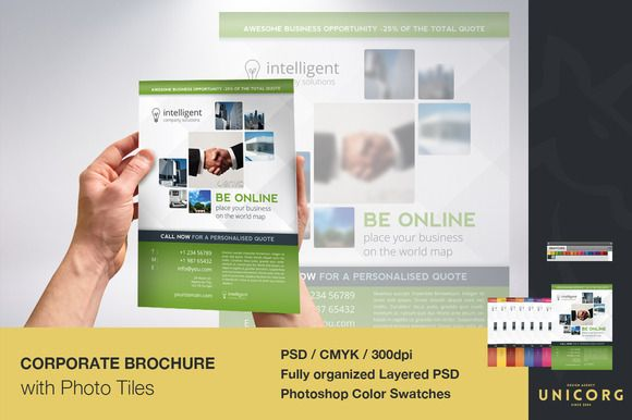 Check Out Business Brochure With Photo Tiles By Unicorg On
