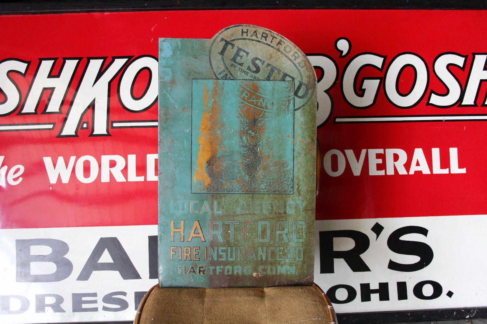 Vintage Original Hartford Fire Insurance Advertising Hartford