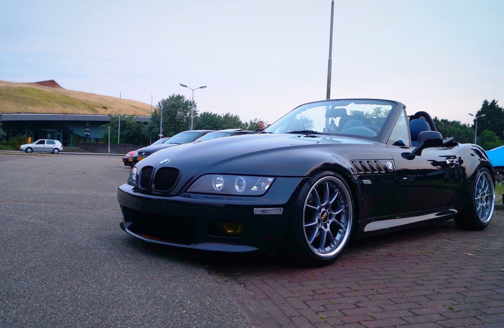 medium resolution of bmw z3 with custom bbs rk2 wheels