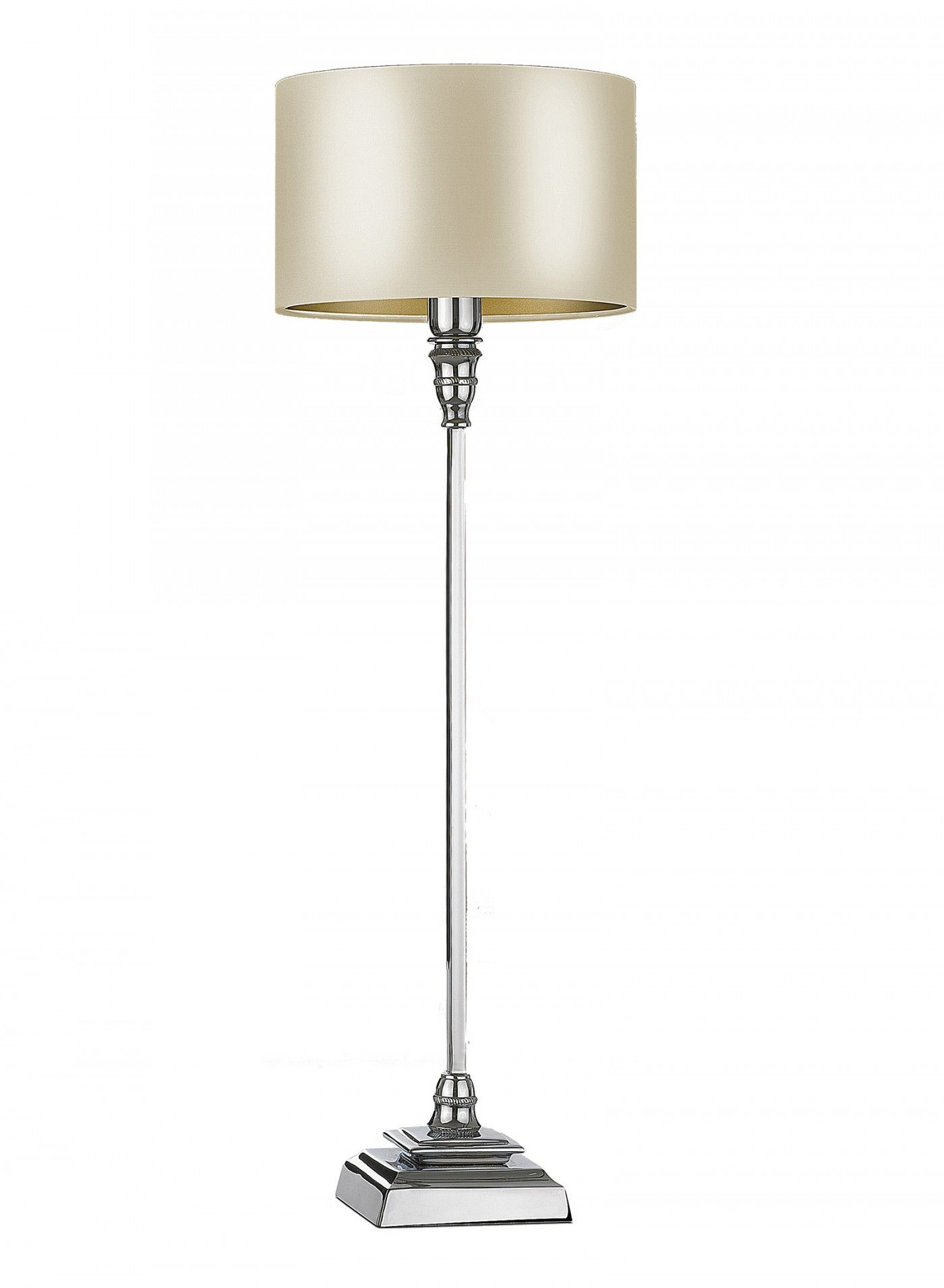 Tall Classical Table Lamps Ideal For Consoles And Other Narrow Spaces. Cast  In Brass And Chrome Plated.
