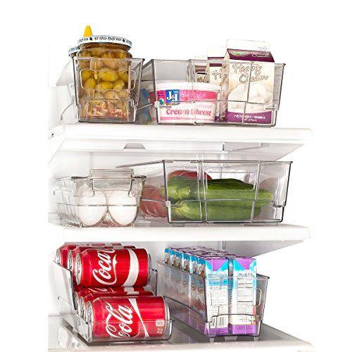 Refrigerator Organizer Set of 6 Refrigerator Stacking Freezer Bins