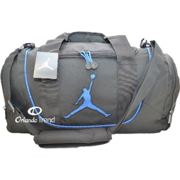 a9879ec61f7138 Nike Air Jordan Black and Royal Blue Duffel Bag 9A1498-383 at  OrlandoTrend.com #Nike #AirJordan #Gimnasio #Gym #OrlandoTrend