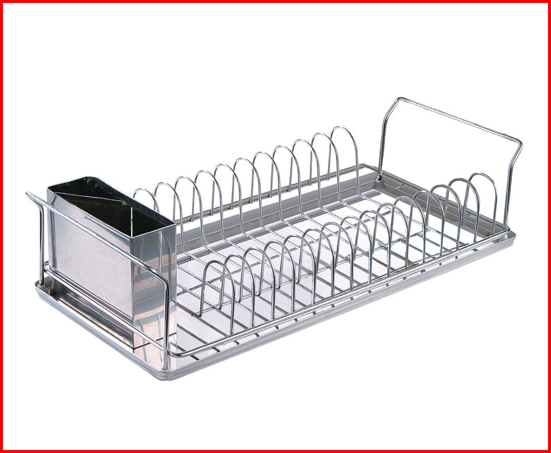 106 Reference Of Chrome Dish Rack With Stainless Steel Tray In 2020 Dish Racks Tray Chrome