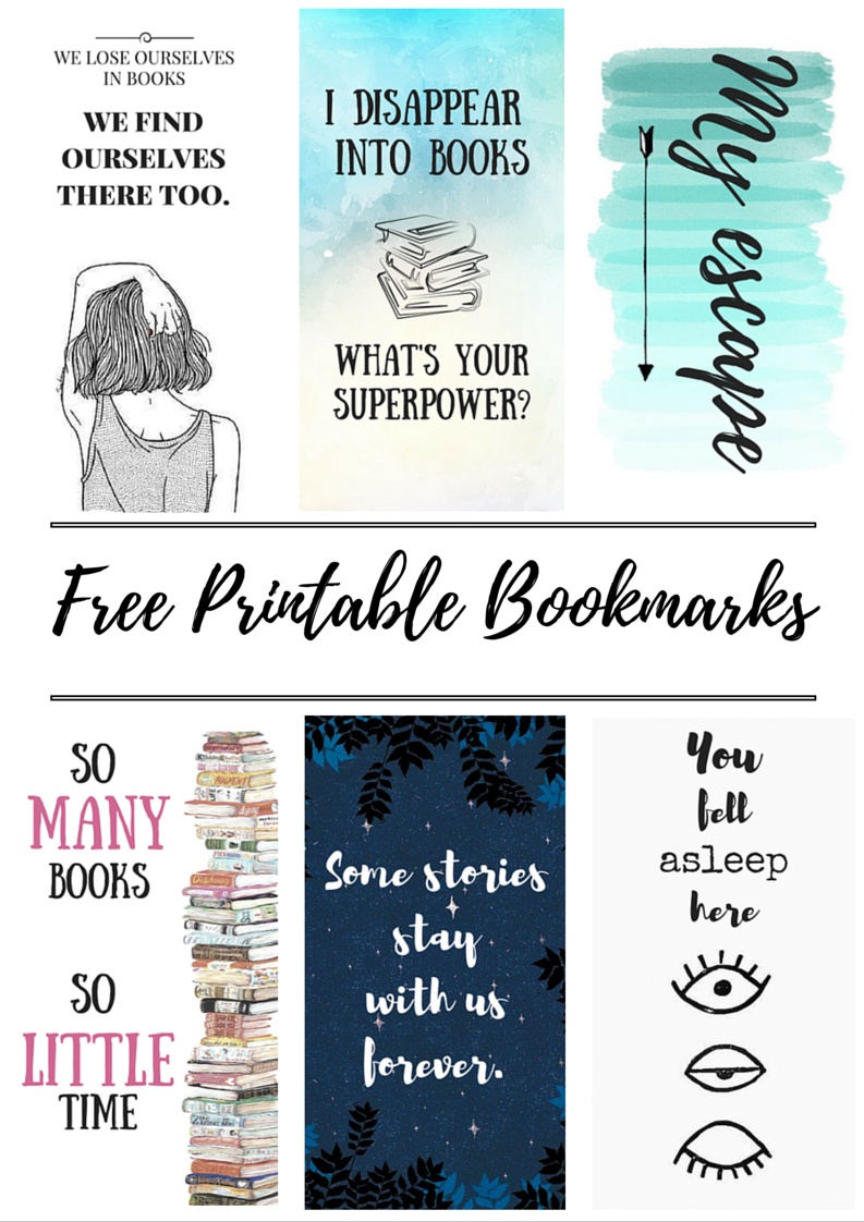 Bookmarks Printable Quotes