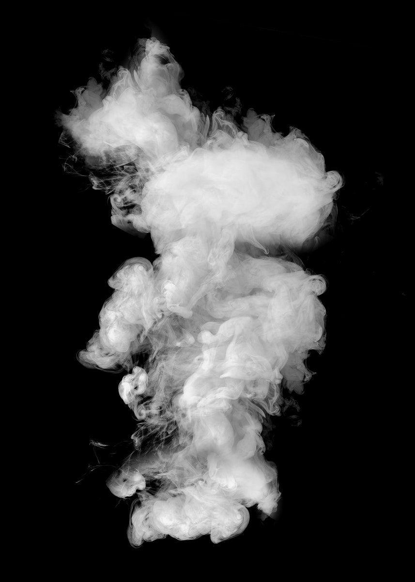 Download Premium Illustration Of White Smoke Effect Design Element On A Smoke Texture Smoke Design Smoke Screen
