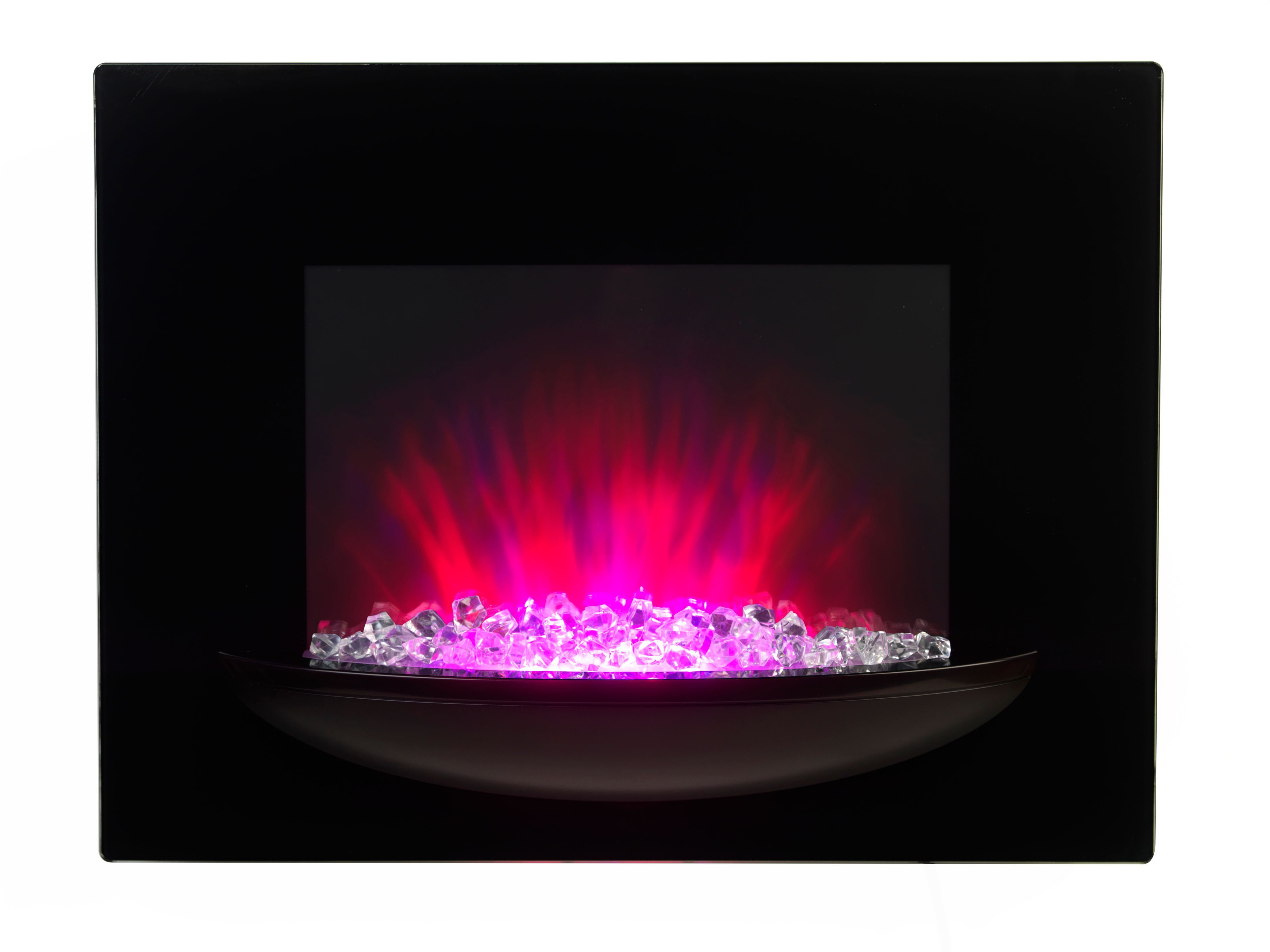 beldray black led lighting remote control electric fire electric