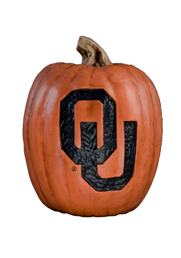 "Oklahoma Sooners 12.5"" Resin Pumpkin http://www.rallyhouse.com/shop/oklahoma-sooners-oklahoma-sooners-pumpkin-halloween-decorations-large-size-2057005?utm_source=pinterest&utm_medium=social&utm_campaign=Pinterest-OUSooners"