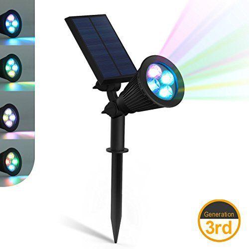 zeefo Lampes solaires LED Lampe Spot Applique murale extérieure 180