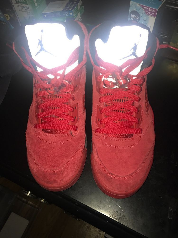 buy popular 4fb94 91e91 jordan retro 5 red suede  fashion  clothing  shoes  accessories  mensshoes   athleticshoes (ebay link)