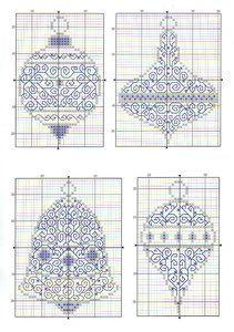 Cross stitch /// Christmas Ornaments Blackwork ideas