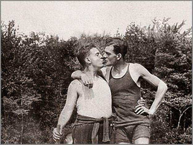 Vintage Gay Kiss
