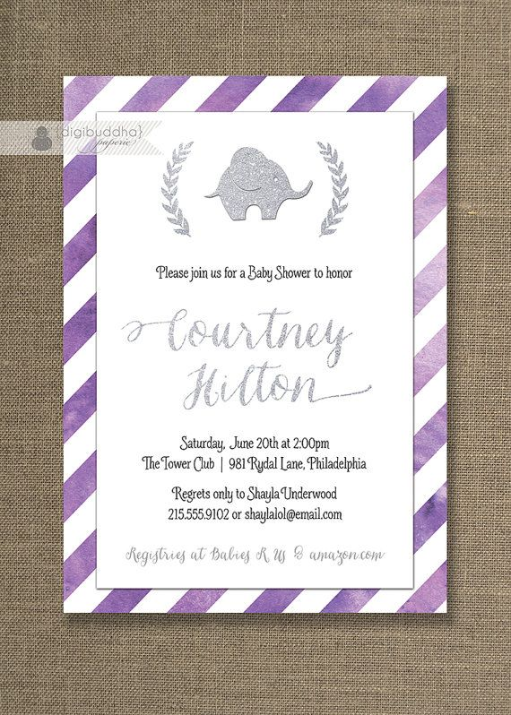 Purple silver baby shower invitation by digibuddhapaperie 2000 purple silver baby shower invitation by digibuddhapaperie 2000 filmwisefo