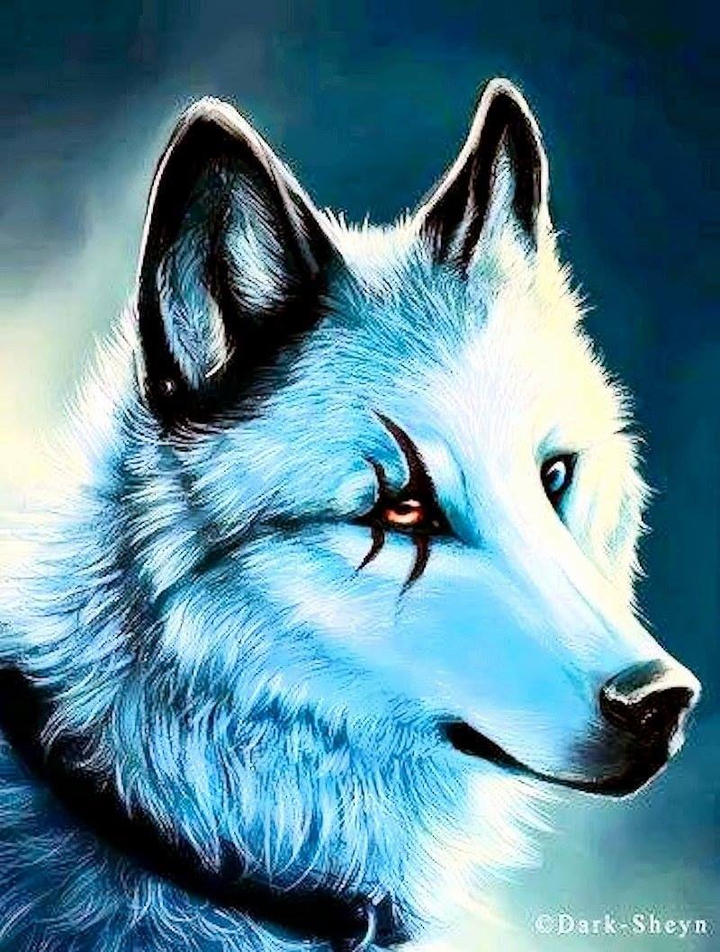 Anime White Wolf Spirit